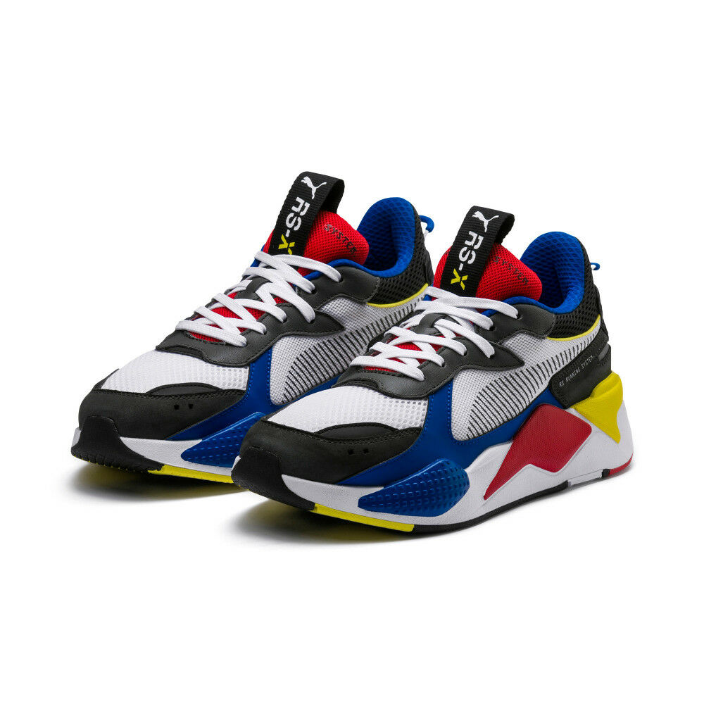 New PUMA RS-X Toys Sneakers Shoes- White/Royal/Red(369449-02/36944902)