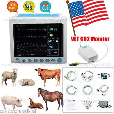 Veterinary Icu Patient Monitor Vet Co2 Monitoring Vital Signs 6-parametercontec