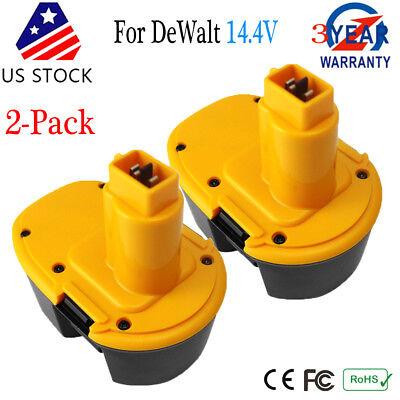 2 Pack Nicd Battery For Dewalt 14 4V Volt Xrp Dw9091 Dc9091 Cordless Drill Power