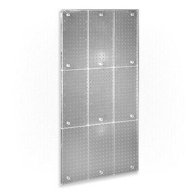 One Sided Pegboard Panel In Clear - 24 W X 48 H Inches