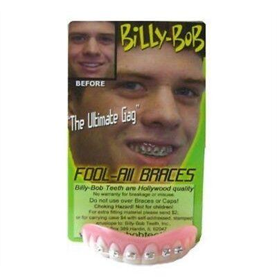 Billy Bob Fake Halloween Teeth - Fool All With Braces - Fancy Dress Fool (Halloween Fake Braces)