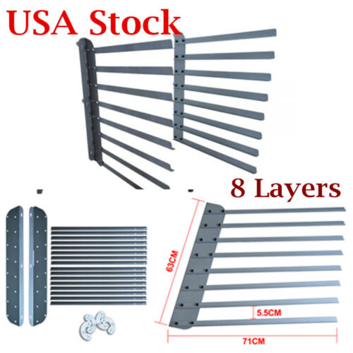 8 Layers Screen Printing Shop Rack / Cart / Storage / Holder / Frame Wall Fixed
