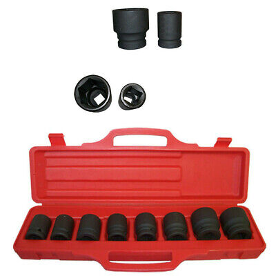 8 pc 3/4 inch Drive Impact Socket Set Shallow SAE