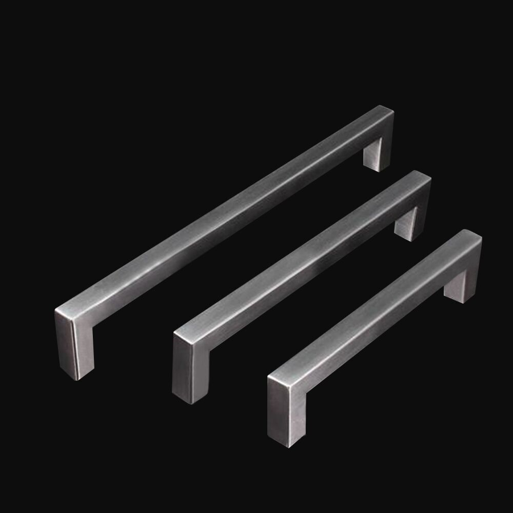 Cabinet Pull Square Handle Drawer Handles Kitchen Stainless Steel ...