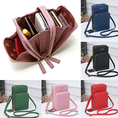 Women Cell Phone Wallet Pocket Purse Shoulder Bags Pouch Case Handbag Crossbody