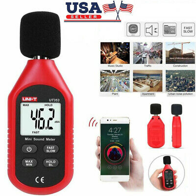Lcd Digital Sound Level Meter Noise Tester 30-130db Decibel Battery Operated Us