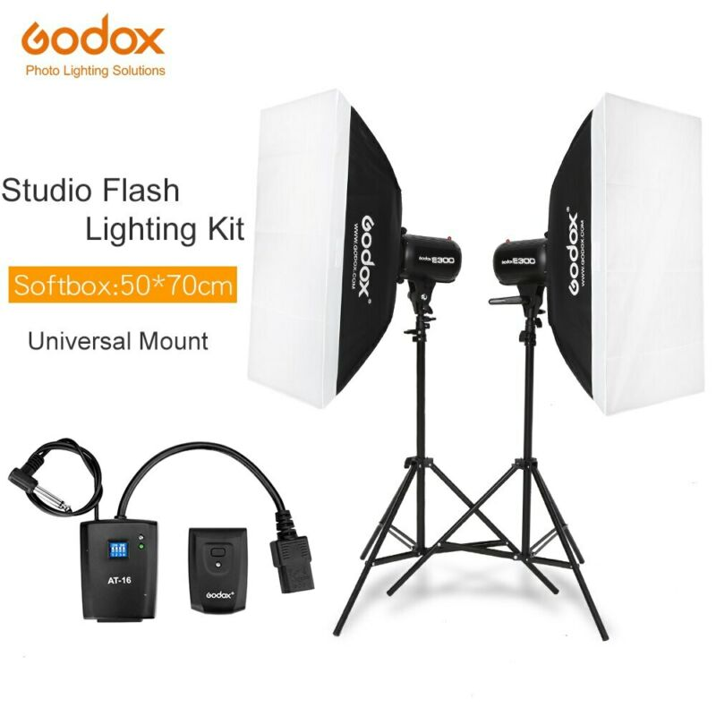 Godox 600Ws Studio Flash Light Photographic Kit + Light Stands+Trigger+SoftBox