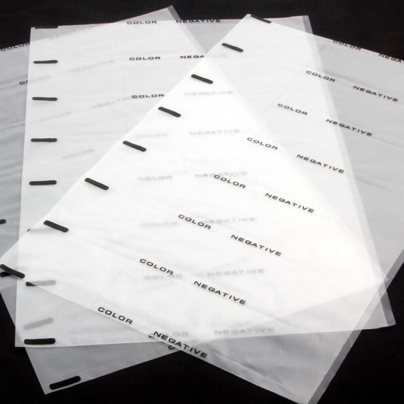 20x Acid-Free Archival Storage Page Protector Sheet 35mm 135 B&W Film Slide
