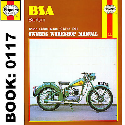BSA Bantum D1, D3, D5, D7, D10, D14/4, D175 1948-71 Haynes Workshop Manual