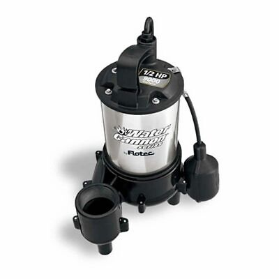 Flotec Fpse9000 - Water Cannon Series 12 Hp Sewage Pump W Piggyback Tether ...