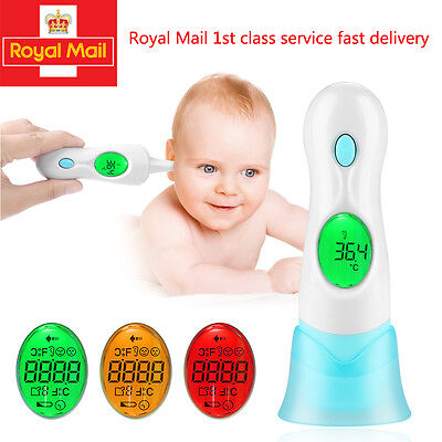 8 in 1 Digital Adult Baby Ear Thermometer Infra Red LCD Temperature Medical UK
