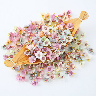 50Pcs Multicolour Daisy Flower Heads Mini Artificial Flowers Decor Wedding sm - Daisy Decorations