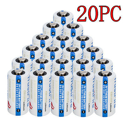 20Pc Trustfire Cr 123 3V Lithium Cr123a Batteries For Camera  Flashlight Etc