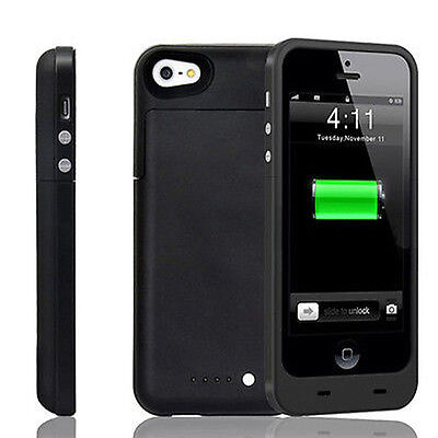 iPhone 5 5S SE Slim External Portable Power Bank Battery Case Charger Cover