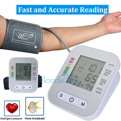 2020 Upper Arm Blood Pressure Monitor Portable Led Display Pulse Tester Bp Cuff