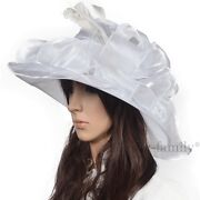 Ladies White Dress Hat