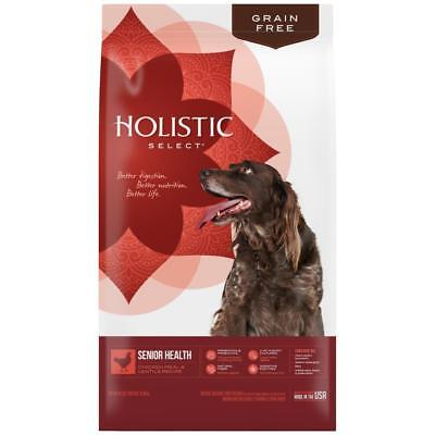 Holistic Select Natural Grain Free Senior Chicken Meal & Lentil Dog Food Dog Food Senior Chicken
