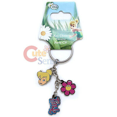 Disney Tinkerbell Schlüsselanhänger 3 Anhänger Metall Blume Auto (Tinkerbell Auto Zubehör)