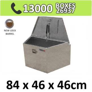 Aluminium Drawbar Trailer Camper Caravan Ute Toolbox Box 844D