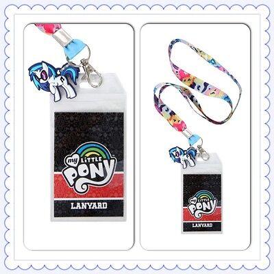 My Little Pony Mane Six ID Holder Lanyard Keychain Hasbro Rainbow Dash Apple Jac - Apple Lanyard