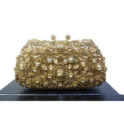 Korea Diamante Bolsa Niña Cristal Pedrería de Mano Cartera Noche Boda Fiesta