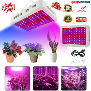 300W Spectrum UV IR LED Hydroponic Plant Grow Light Bulb Lamp Lighting Growth UK