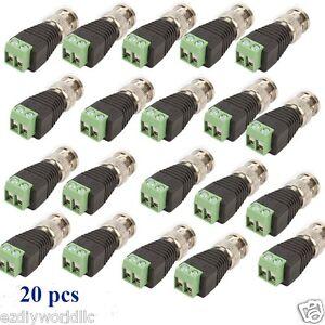 Lot-20-pcs-Coax-CAT5-To-Camera-CCTV-BNC-Video-Balun-Connector