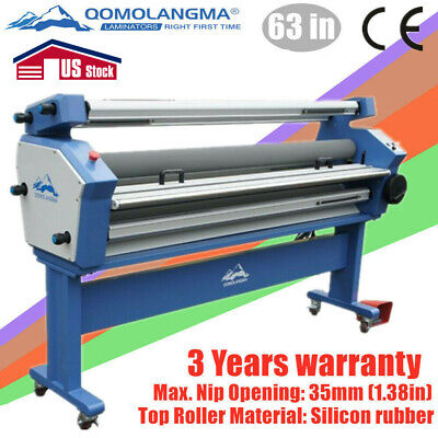 Us Stock 110v 63in Full-auto Wide Format Cold Roll Laminator With Heat Assisted