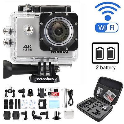 Wimius 4k Action Camera HD sports camera wifi Waterproof Helmet+Gopro DV bag Q1
