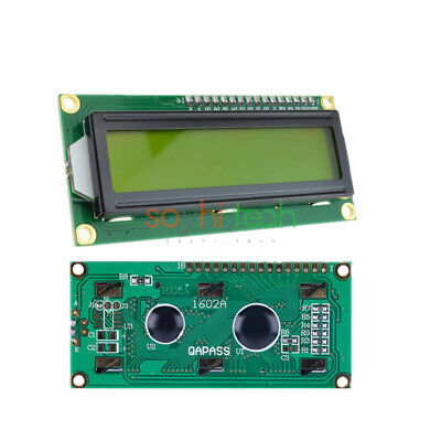 Hd44780 Controller 1602 162 16x2 Character Yellow Lcd Display Blacklight Module