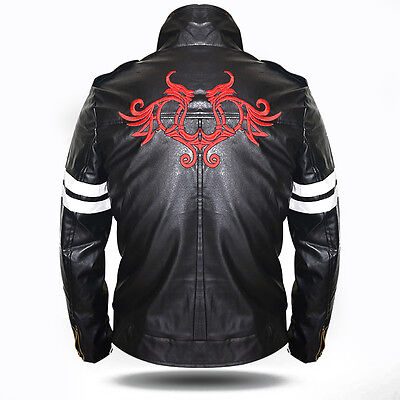 Prototype Alex Mercer Jacket Coat Costume Dragon Embroidered PU Leather - Alex Costume