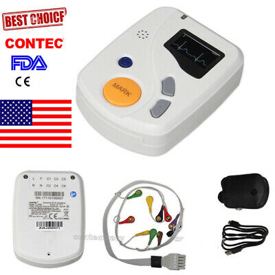 Contec Ecg Holter Monitor 48hrs 12-channel Ecg Recorderpc Software Analysisfda
