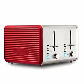 Bella Linea Red 4 Slice Toaster NEW