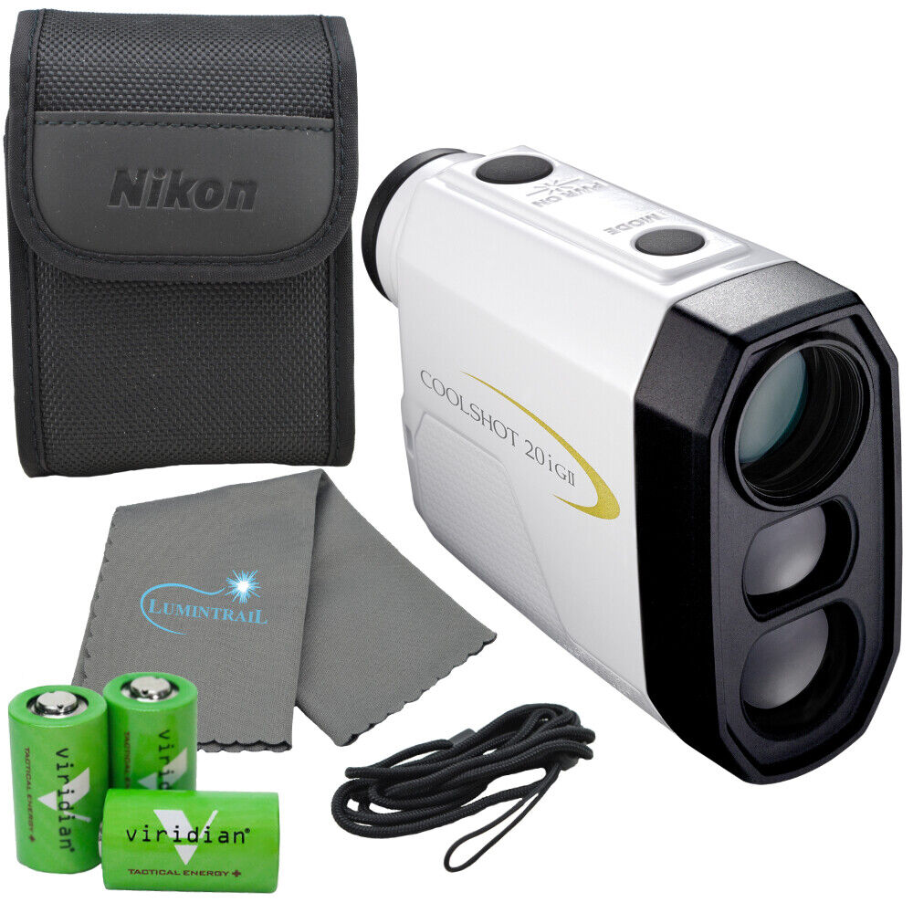 Nikon Coolshot 20i GII Golf Laser Rangefinder, 16666 with 3