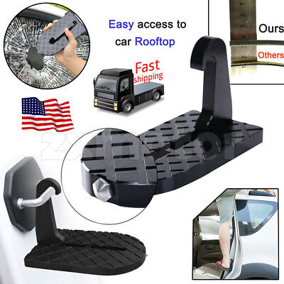 Folding Car Latch Hook Door Step Mini Foot Pedal Ladder for Jeep SUV Truck Roof (Kodiak Truck Steps)