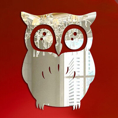 Black And Gold Home Decor 3D Animal Owl Mirror Wall Sticker Room Wall Removable Decal Decor Art Mural DIY Overstock.com Home Decor