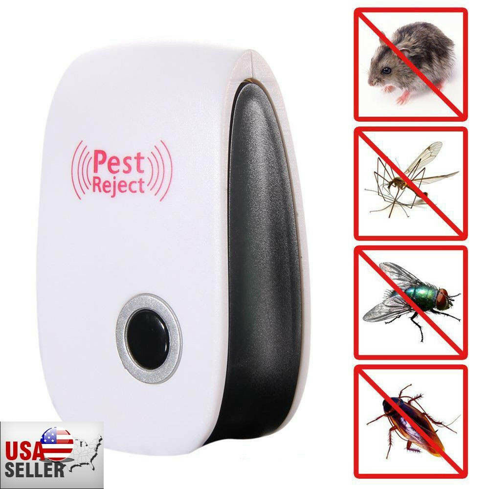 Pest Rat Pro Ultrasonic Reject  Repeller Home Bed Bug Mites Roaches Spider Plug