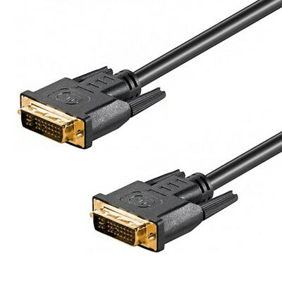 10' Dual-link (10m DVI-I Dual Link Kabel 24+5 Full HD digital analog WQXGA 2560x1600 vergoldet)