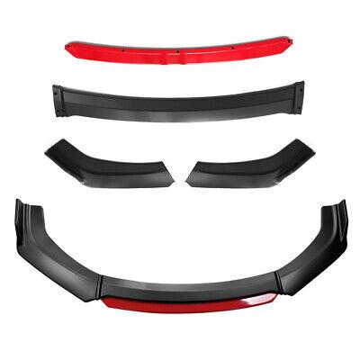4pcs Universal Front Bumper Lip Spoiler Splitter Protector Under Panel Diffuser