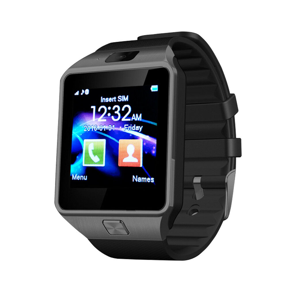 Black DZ09 Bluetooth Smart Watch Wristwatch SIM TF Card Camera for Android IOS