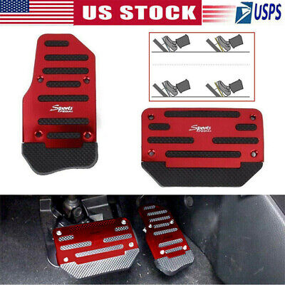 2PCs Universal Non-Slip Automatic Gas Brake Foot Pedal Pad Cover Accessories Set