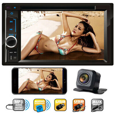 "6.2"" 2 Din In-dash Car Stereo DVD CD Player Bluetooth Radio Mirror Link + Camera"