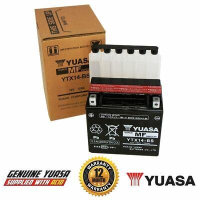 YUASA YTX14 BS MOTORCYCLE BATTERY TRIUMPH SPEED TRIPLE 1050 05 14