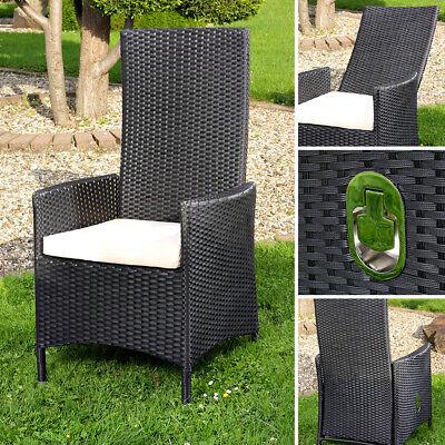 Garten hochlehner Sessel + Kissen Stuhl Balkon Sitzmöb… | 04250357324977