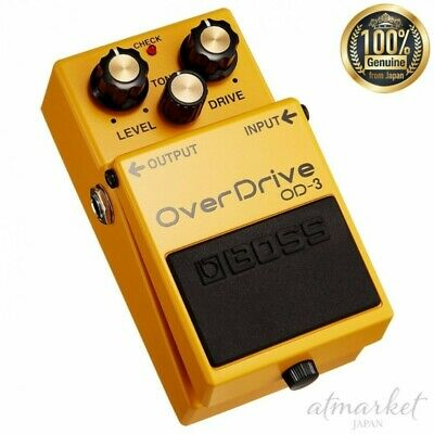 BOSS Over Drive OD-3 Guitar Effect Yellow Dual stage from JAPAN