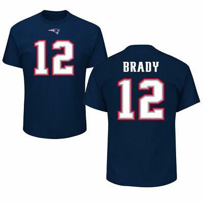 TOM BRADY #12 New England Patriots Mens Name and Number T-Shirt New England Patriots Number