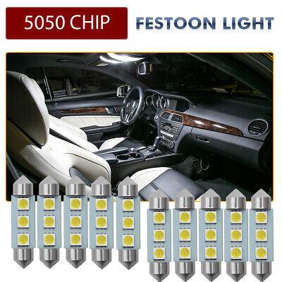 36/39/41MM 5050 5W 12V 3 SMD LED Innenleuchten Nummernschildbeleuchtung Set Weiß
