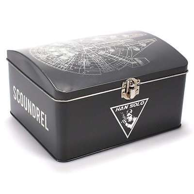 OFFICIAL STAR WARS HAN SOLO MILLENNIUM FALCON DOMED STORAGE TIN METAL CONTAINER