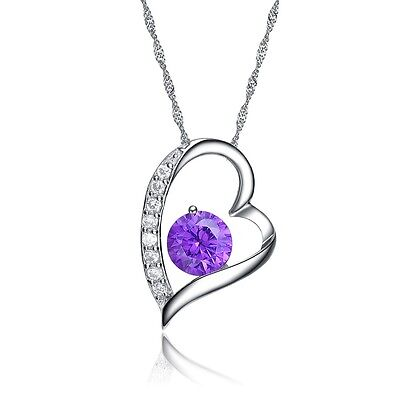 """925 Sterling Silver Heaert Design Pendant with """"18"""" 925 Women Silver Necklace Fashion Jewelry"""