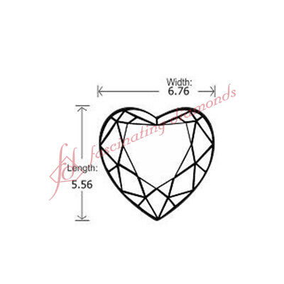Wholesale Price - Conflict Free Diamonds - 0.91 Ct Heart Shaped Diamond - SI1 1